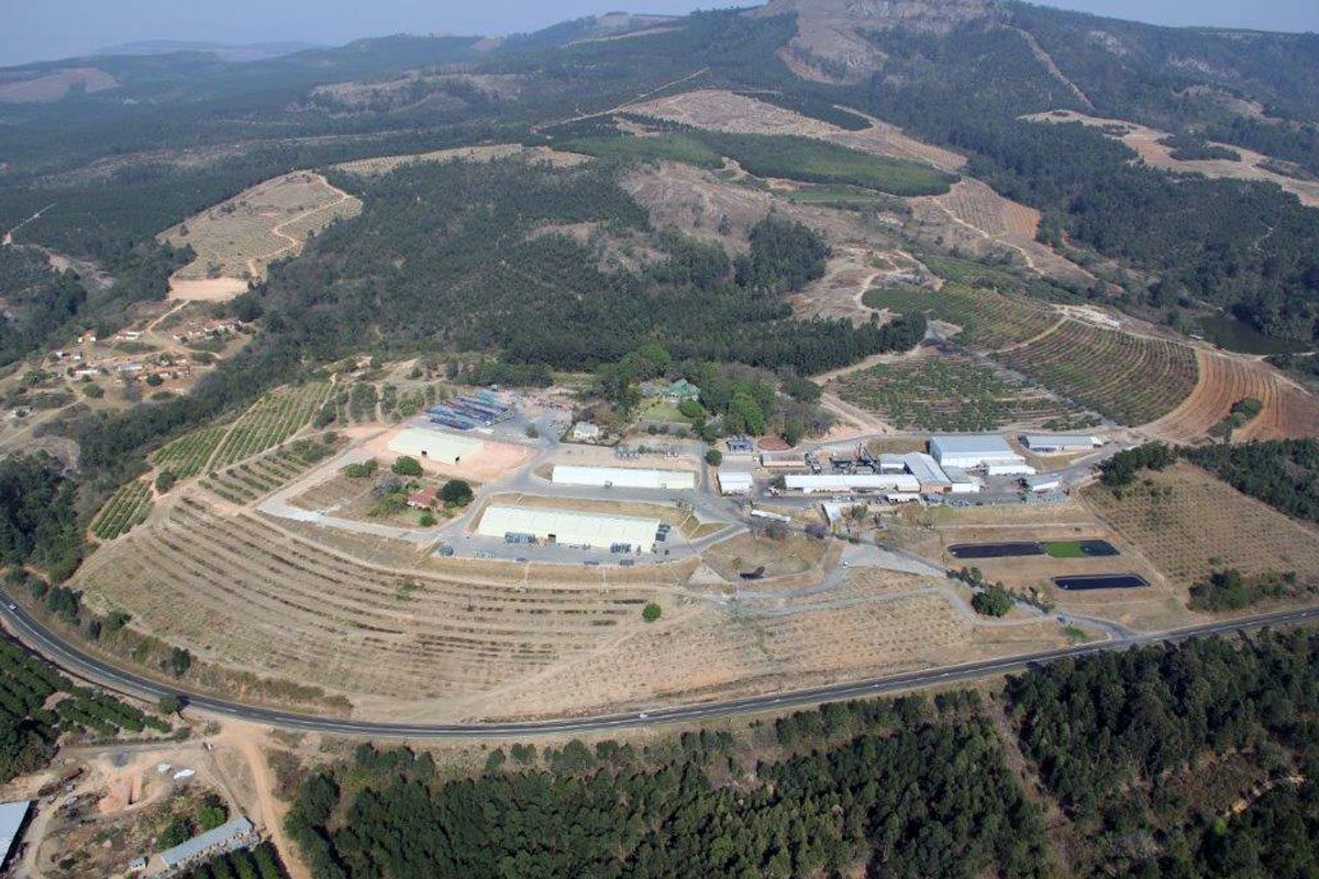 View of the entire BronPro property from the air
